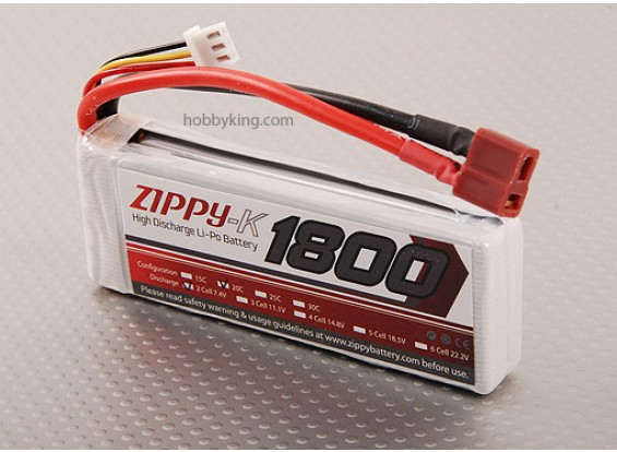 Zippy-K 1800 pacco 2S1P 20C Lipo