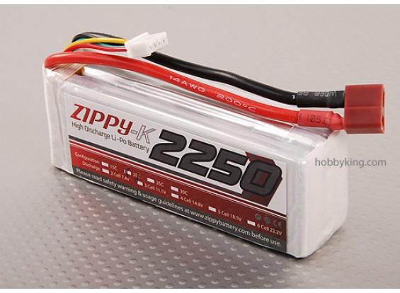 Zippy-K 2250 pacco 3S1P 20C Lipo