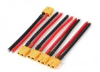 XT60 femminile w / 12AWG Silicon Wire 10cm (5pcs / bag)
