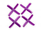 Dalprop Q4040 Bull Nose 4 Blade Propellers CW/CCW Set Purple (2 pairs)