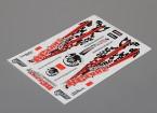 Auto Sticker Foglio Adesivo - RCfans da corsa 1/10 Scale (335 millimetri x 242 millimetri)