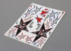 Auto Sticker Foglio Adesivo - Evil Black Star 1/10 Scala