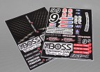 Auto Sticker Foglio Adesivo - The Boss SC 1/10 Scale (345 millimetri x 240 millimetri)