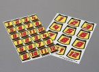 Auto Sticker Foglio Adesivo - Numero Kit 1/10 Scale (Red)