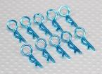 Piccolo anello 45 gradi clip di corpo (Blu) (10Pcs)