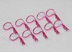 Grande anello 90 gradi clip di corpo (viola) (10pcs)