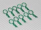 Clip medio-ring corpo (verde) (10pz)
