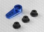 Alluminio unidirezionale universale Servo Arm - JR, Futaba e HITEC (blu)