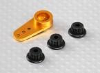 Alluminio unidirezionale universale Servo Arm - JR, Futaba e HITEC (Golden)