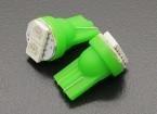 Luce del cereale LED 12V 0.4W (2 LED) - verdi (2 pezzi)