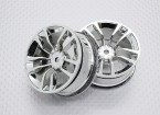Scala 1:10 di alta qualità Touring / Drift Wheels RC 12 millimetri Hex (2pc) CR-DBSC