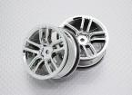 Scala 1:10 di alta qualità Touring / Drift Wheels RC 12 millimetri Hex (2pc) CR-GTC
