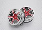 Scala 1:10 di alta qualità Touring / Drift Wheels RC 12 millimetri Hex (2pc) CR-C63R