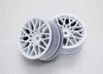 Scala 1:10 di alta qualità Touring / Drift Wheels RC 12 millimetri Hex (2pc) CR-LBW