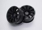 Scala 1:10 di alta qualità Touring / Drift Wheels RC 12 millimetri Hex (2pc) CR-M3NB