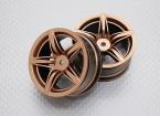 Scala 1:10 di alta qualità Touring / Drift Wheels RC 12 millimetri auto Hex (2pc) CR-F12G