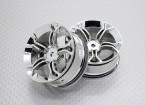 Scala 1:10 di alta qualità Touring / Drift Wheels RC 12 millimetri auto Hex (2pc) CR-MP4C