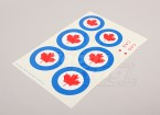 Scala nazionale Air Force Insignia Sticker Sheet - Canada