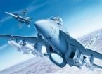 Italeri 1/72 Scala Kit F / A-18E Super Hornet Plastic Modello