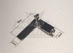 80 millimetri in alluminio timone Set