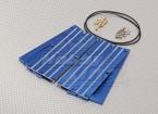 Alluminio blu batteria ad acqua di raffreddamento Consiglio (2 pezzi)