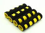 Schiuma EVA giunto cardanico manico giallo / nero (107x28x18mm) (4 pezzi)