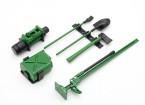 1/10 Scala Defender set di accessori con il manichino Winch - Verde