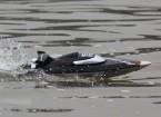 FT012 Brushless V-Hull barca di corsa con funzionalità autoraddrizzanti (EU Plug)