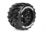 "LOUISE MT-CICLONE 1/8 scala Traxxas Style Bead 3.8 ""Monster Truck SPORT Compound / nero Rim"
