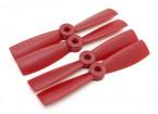 Diatone Bull Nose plastica Eliche 4 x 4,5 (CW / CCW) (Rosso) (2 coppie)