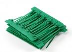 Fascette 120 millimetri x 3 mm verde con Marker Tag (100pcs)