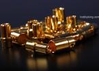 connettori dorati 8mm (12 pack)