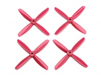 Dalprop Q4045 Bull Nose 4 Blade Propellers CW/CCW Set Red (2 pairs)