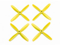 Dalprop Q4045 Bull Nose 4 Blade Propellers CW/CCW Set Yellow (2 pairs)