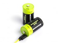 Znter 1.5V 3000mAh C Size USB Rechargeable LiPoly Battery (2pcs)