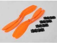 12x4.5 SF Props 2pc standard di rotazione / 2 pc RH Rotation (arancione)