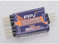 Dipartimento Funzione 3-Channel FPV Video Switcher