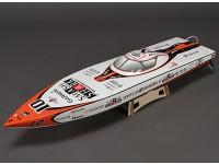 Smash Shark vetroresina Offshore Brushless barca di corsa w / motore (840 millimetri)