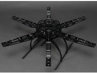 Dipartimento Funzione S650 fibra di vetro Hexcopter 655 millimetri telaio