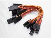 10CM Servo Extention piombo (JR) 26 AWG (10pcs / bag)