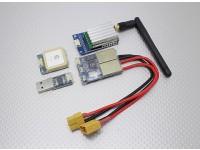 Skylark All-in-1 OSD (2.4G TX) 500mW con la macchina fotografica e GPS