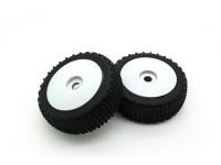 1/8 di scala Ruote Pro Piatto con pneumatici (2pc)