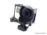Treppiede culla Parasole Custodia per GoPro Hero 3, 3 più e 4 (nero)