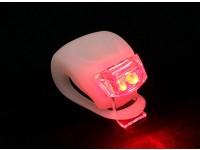 Bianco Silicon mini-lampada (LED rosso)