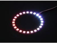 24 RGB LED 7 di colore rotonda Consiglio 5V e Intelligent Controller LED RGB con spine stile Futaba