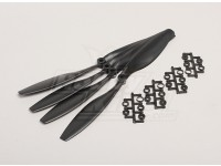 GWS Stile Slowfly dell'elica 10x4.5 Black (CCW) (4 pezzi)