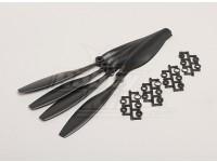 GWS Stile Slowfly dell'elica 10x4.5 Black (CW) (4 pezzi)