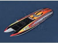 Genesis Offshore Twin Hull (1045 millimetri) in fibra di vetro Hull Solo
