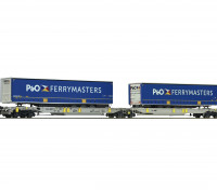 Roco/Fleischmann HO Scale Articulated Double Pocket Wagon P&O Ferrymasters