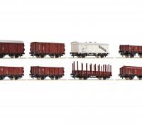Roco/Fleischmann HO Scale 8 Piece Freight Wagon Set DB